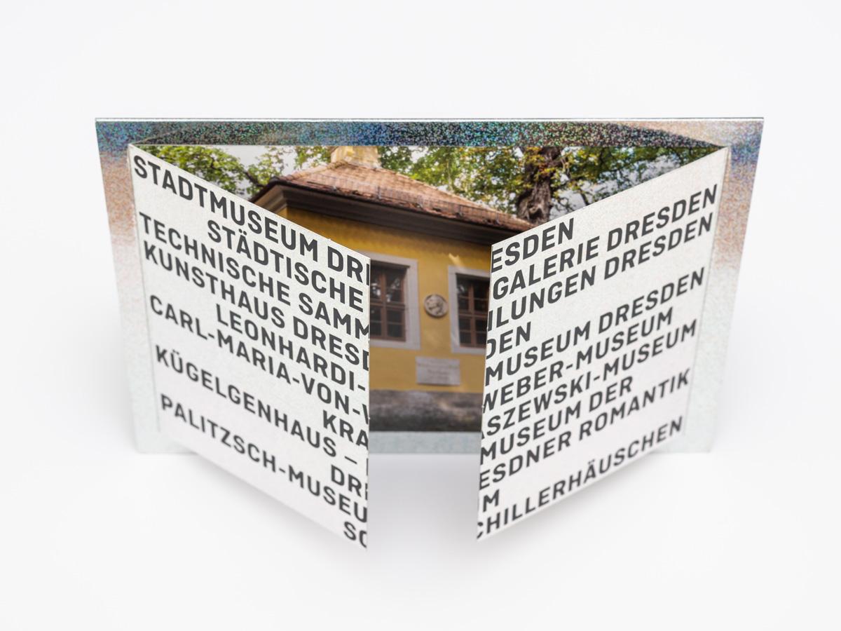 Dresdner Museen Klappkarte